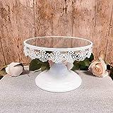 Homezone® Tortenständer, verspiegelt, 20 cm für Hochzeiten, Geburtstage, Desserts, als Cupcake-Ständer und Servierplatte, wiederverwendbar