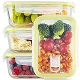 Zoë&Mii Lebensmittelbehälter aus Glas 8 teilige Set 850 ml - Hochwertige und luftdichte Glasschalen BPA-frei - Frischhaltedosen Vorratsdosen mit Smart Lock Deckel - Meal Prep,...