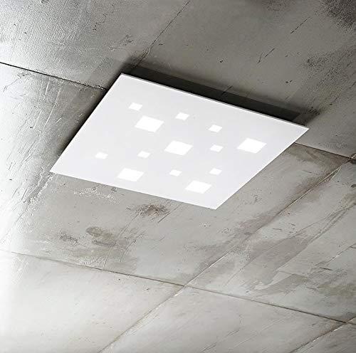 Plafoniera Applique Soffitto Led Moderna Camera Soggiorno Luce Bianca Calda 69 W