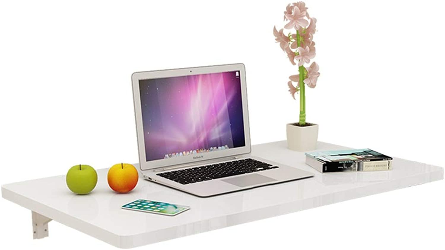 PENGFEI Wall-Mounted Table Laptop Stand Folding Desk Kitchen Shelf Save Space, 3 colors, 6 Sizes (color   White, Size   70x50CM)