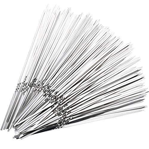 Fantastic Deal! LII Barbecue Skewers 50 PCS 304 Stainless Steel Reusable BBQ Cooking Tools for Grill...