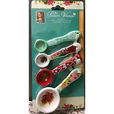The Pioneer Woman Ceramic Measuring Spoons Winter Bouquet