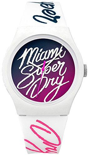 Superdry Unisex Erwachsene Analog Quarz Uhr mit Silikon Armband SYLSYL180WP