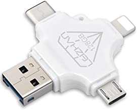 128GB USB Flash Drive Compatible for iPhone ipad 4 in 1 Type-C Micro USB 3.0 Thumb Drive Peedrive for Samsung Galaxy S10,S...
