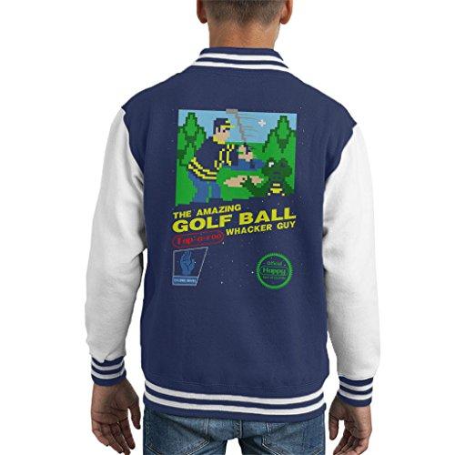Cloud City 7 Happy Gilmore Amazing Golf Ball Whacker Guy The Video GameKid's Varsity Jacket