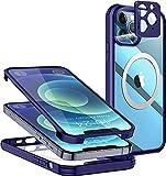 Schutzhülle für iPhone 12 Pro Max 360 Grad, Blau &