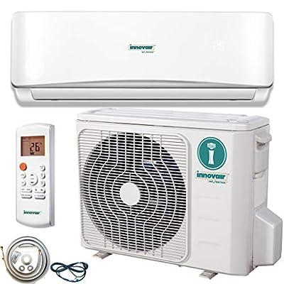 Innovair Air Conditioner Inverter Ductless Wall Mount Mini Split System Heat Pump Full Set with Kit 17-19 SEER (9,000 BTU 115V)