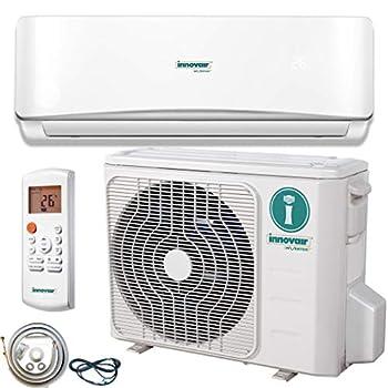 Innovair Air Conditioner Inverter Ductless Wall Mount Mini Split System Heat Pump Full Set with Kit 17-19 SEER  18,000 BTU 208/230V