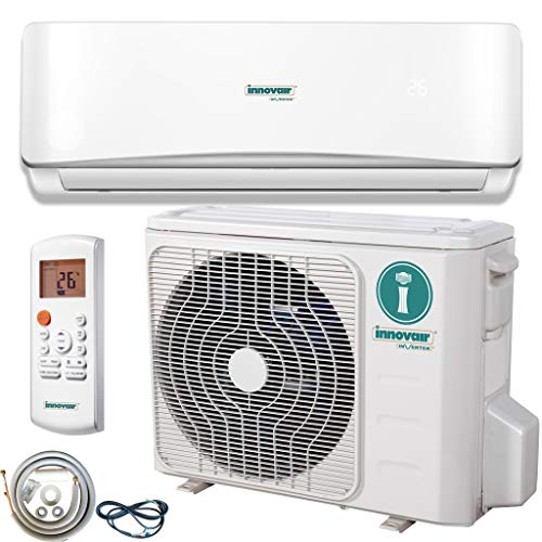 Innovair Air Conditioner Inverter Ductless Wall Mount Mini Split System Heat Pump Full Set with Kit 17-19 SEER (12,000 BTU 115V)
