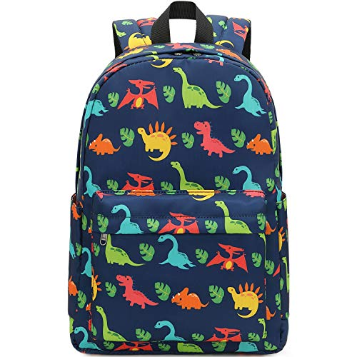Kids Backpack Boys Preschool Toddler School Book Bags for Elementary Primary Schooler (Dinosaur-leaf)