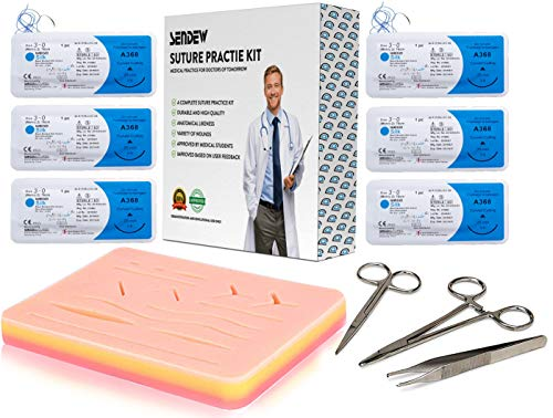 Suture Training Pad Suture Practice Kit for Medical Dental Vet Training Students, Including Large...