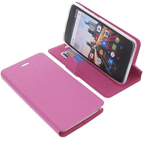 foto-kontor Tasche für Archos 50f Helium Book Style pink Schutz Hülle Buch