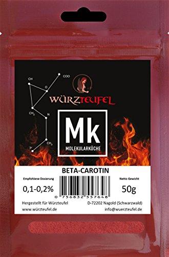 Beta-Carotin, Provitamin A, natürlicher, orangener Farbstoff. E160a. Beutel 50g.