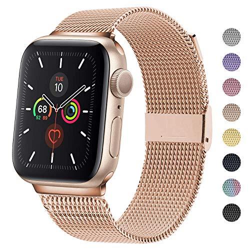 MOUKOU Ersatz Armband kompatibel mit Apple Watch 38mm 40mm Armbänder verstellbares Edelstahl-Mesh-Ersatzband für iWatch Serie 5/4/3/2/1
