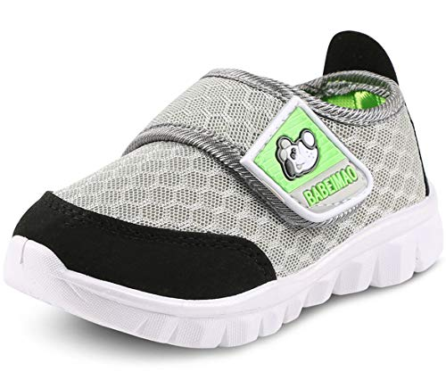 DADAWEN Baby's Boy's Girl's Breathable Mesh Lightweight Cute Casual Sneakers Athletic Walking Running Shoes Gray US Size 6.5 M Toddler