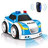 Selieve Remote Control Car for Boys 3-5, RC Police Car Toys with Gravity and Infrared Sensor, 4 Modes Interactive Intelligent Educational Toys for Kid, STEM Toys Gifts for 3-5 Year Old Boys and Girls