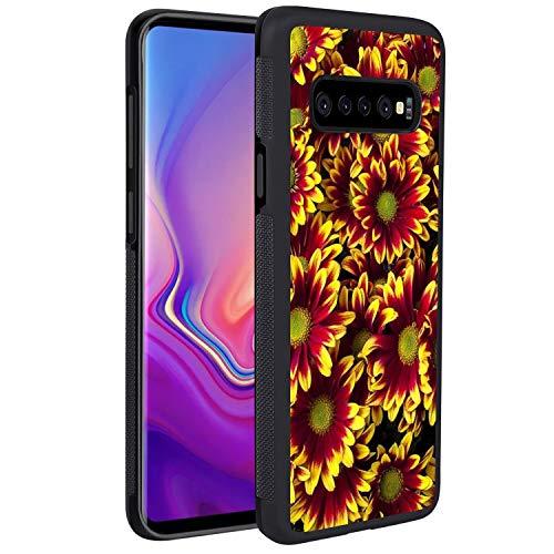 UZEUZA Diseñado para Samsung Galaxy S10+ 6.4 pulgadas cubierta cubierta cubierta cubierta cubierta cubierta cubierta cubierta cubierta protectora para Samsung Galaxy S10+ 6.4 pulgadas campo de flores