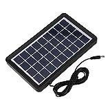Diyeeni Tablero Solar, 9V 3W Tablero Solar a Prueba de Agua de Alta tasa de conversión Poly Silicon Solar Cell con protección multinivel, Alta transmitancia de luz