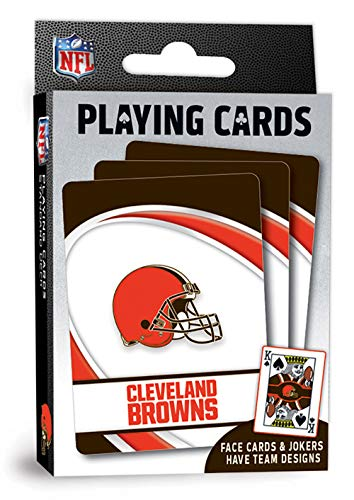 MasterPieces NFL Cleveland Browns Playing Cards,Orange,4