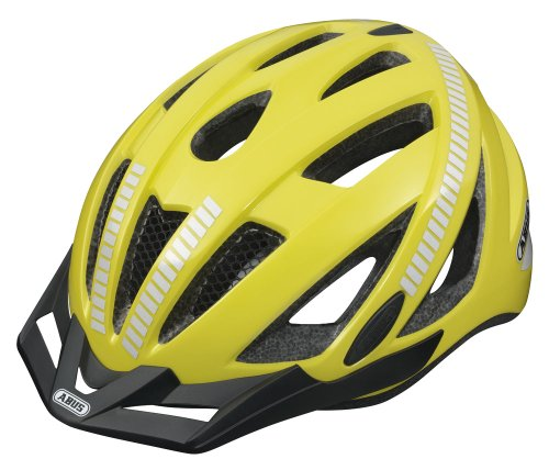Abus Herren Fahrradhelm Urban-I, signal yellow, M (52-57 cm), 52044-0