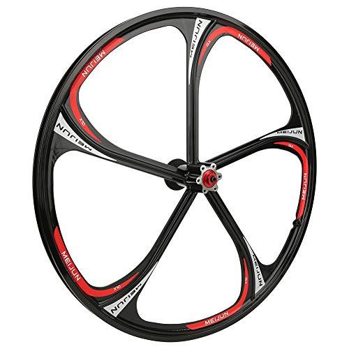 26 pulgadas aleación de aluminio bicicleta eje integrado 5/6 agujero cojinete cassette Wheelset para bicicleta de montaña