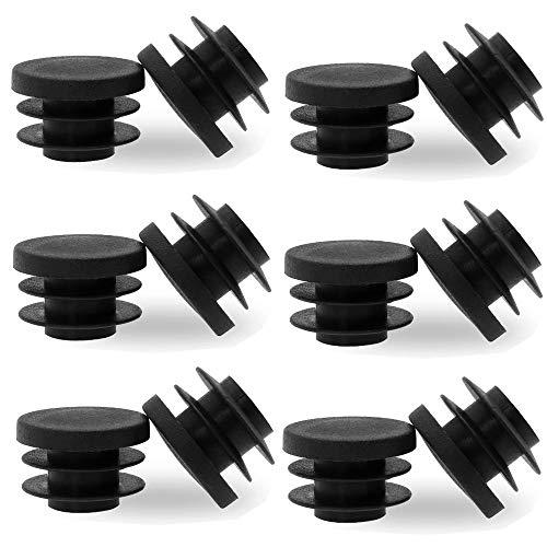 50 Piezas tapones de láminas redondos Tapas De Plástico Insertos De Patas De Mesa 20 mm de diámetro tapones para tubos cubierta de tubo de plástico de polietileno de alta calidad