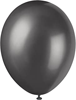 Unique Party - 80090 - Paquet de 8 Ballons Nacrés en Latex - 30 cm - Noir