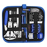 Kit de reparación de relojes Watchmaker Tool Band Link Back Case Holder Abridores Spring Bar Pin Tool Set 185 piezas, Kit de herramientas DIY