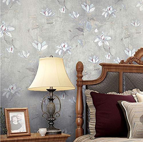 Tapete Pastoral Blumen Vlies Tapete 3D Europäischen Stil Vintage Hintergrund Tapete Wohnzimmer Schlafzimmer Kleidung Sto-2