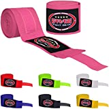 Farabi Adults Boxing Hand Wraps 4 Meters Pink