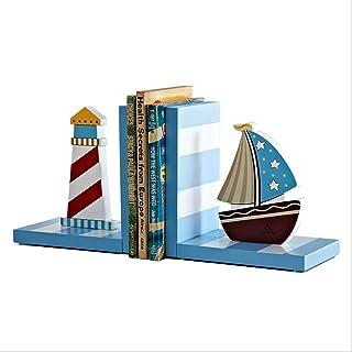 Bookends البحر المتوسط الإبداعية حجز كتاب الرف حامل الأطفال كتاب خشبي كتاب الخشب ينتهي للرفوف، سدادة كتاب للكتب Book Stand