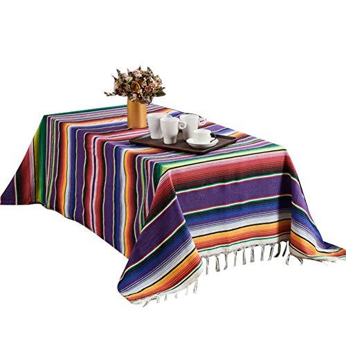 Picknick Stranddecke ethnischen Stil Outdoor Strand werfen Decke handgefertigte Regenbogen Decke mexikanische indische Baumwolle Tischdecke Strandmatte Picknick Teppiche für Strand Home Tapisserie