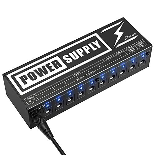 Donner DP-2 Guitar Pedal Power Supply High Current 10 Isolated DC Output