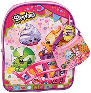 Shopkins Mini Backpack with Coin Bag, Pink, 10