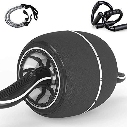 KFMJF Silent-Bauchmuskeln Roller, Innenbauch Bauch Rad-Rolle, Bauch Radlager, Fitnessgeräte Laufrad Für Heim Übung Kernkraft,Grau
