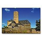 CALVENDO Premium Textil-Leinwand 90 x 60 cm Quer-Format Genovevaburg in Mayen, Leinwanddruck von Arno Klatt