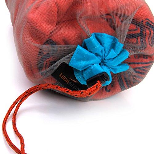 CUTICATE Bolsa de Malla de 4 Piezas con Cordón Bolsa de Pelota de Golf Bolsa de Malla de Nailon para Acampar Senderismo S + M