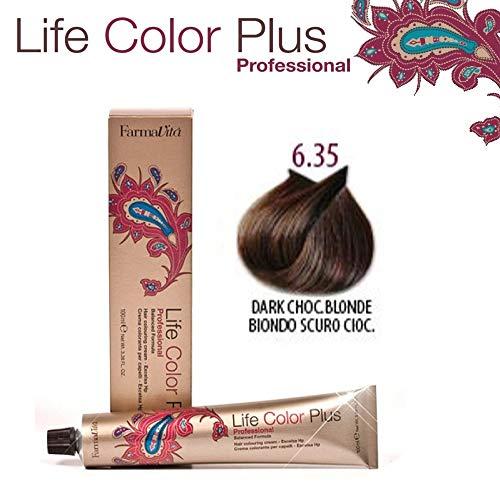 Farmavita Life Color Plus, Tinte 6.35 Rubio Oscuro Chocolate - 60 ml