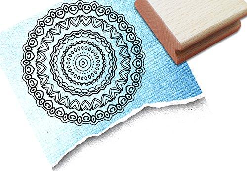 Stempel - Centangle stempel - Doodle stempel MANDALA II met patroon - stempel je centreerhoek steeds weer nieuw en anders dan een sjabloon om te kleuren - voor kaarten - kunst en meer