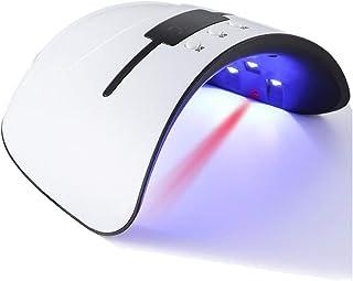 DXIA Lampara Led UV Uñas, Secador de lámpara de uñas UV/LED 36W con 12 LED, configuración de 3 temporizadores de 30s, 60s y 99 s, Sensor Automático para Uñas para gel polaco