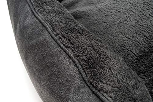 Happilax waschbares Hundebett mit wendbarem Kissen, Hundekörbchen für mittelgroße und kleine Hunde - 7