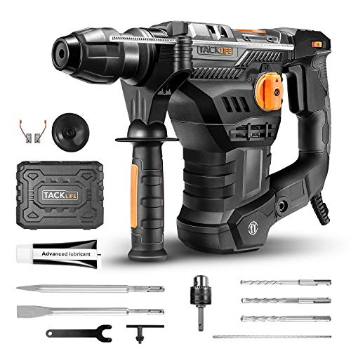 Lowest Price! TACKLIFE 1-1/4 Inch SDS-Plus Electric Rotary Hammer Drill 12.5 Amp with Vibration Cont...