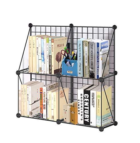 QIANGDA Librerías Estanterias Almacenamiento Modular Bricolaje Combinación De Cuadrícula Estantería Organizador Gabinete, Negro, 4/6/9 Cubos (Tamaño : 65 x 22 x 65cm)