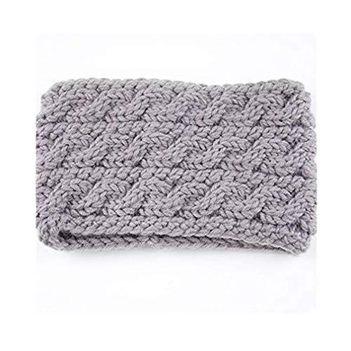 Techwills Damen Bogen Stirnbänder Winter Haarband Crochet Women(Grau)