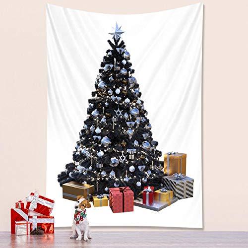 Tapiz de árbol de navidad dormitorio decoración del hogar tapiz colchón sala de estar decoración bohemia-150x130cm