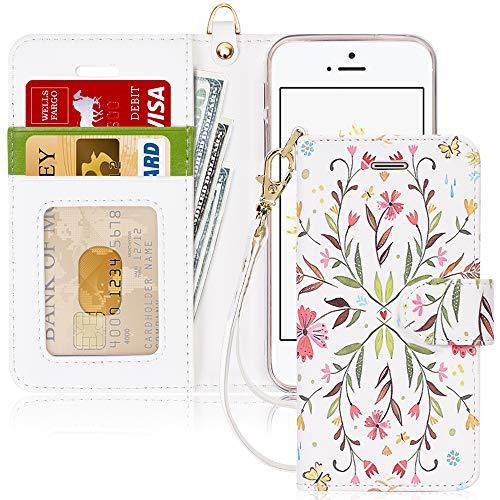 FYY Schutzhülle iPhone 5SE Schutzhülle, [Serien High-End] Ledertasche von Erste Qualität mit Coverture Allmächtige für iPhone 5SE E-Fashion 5 SE/5S/5