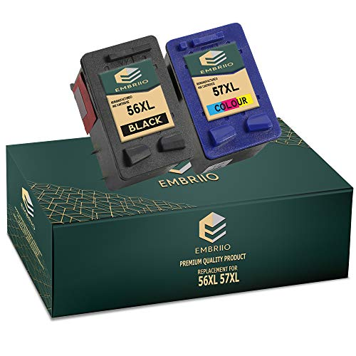 EMBRIIO 56 57 Cartuchos de Tinta Reemplazo para HP Photosmart 7260 7350 7450 7660 7762 7960 C4180 C4280 C5280 Deskjet 5150 5550 450cbi Officejet 5610 4215