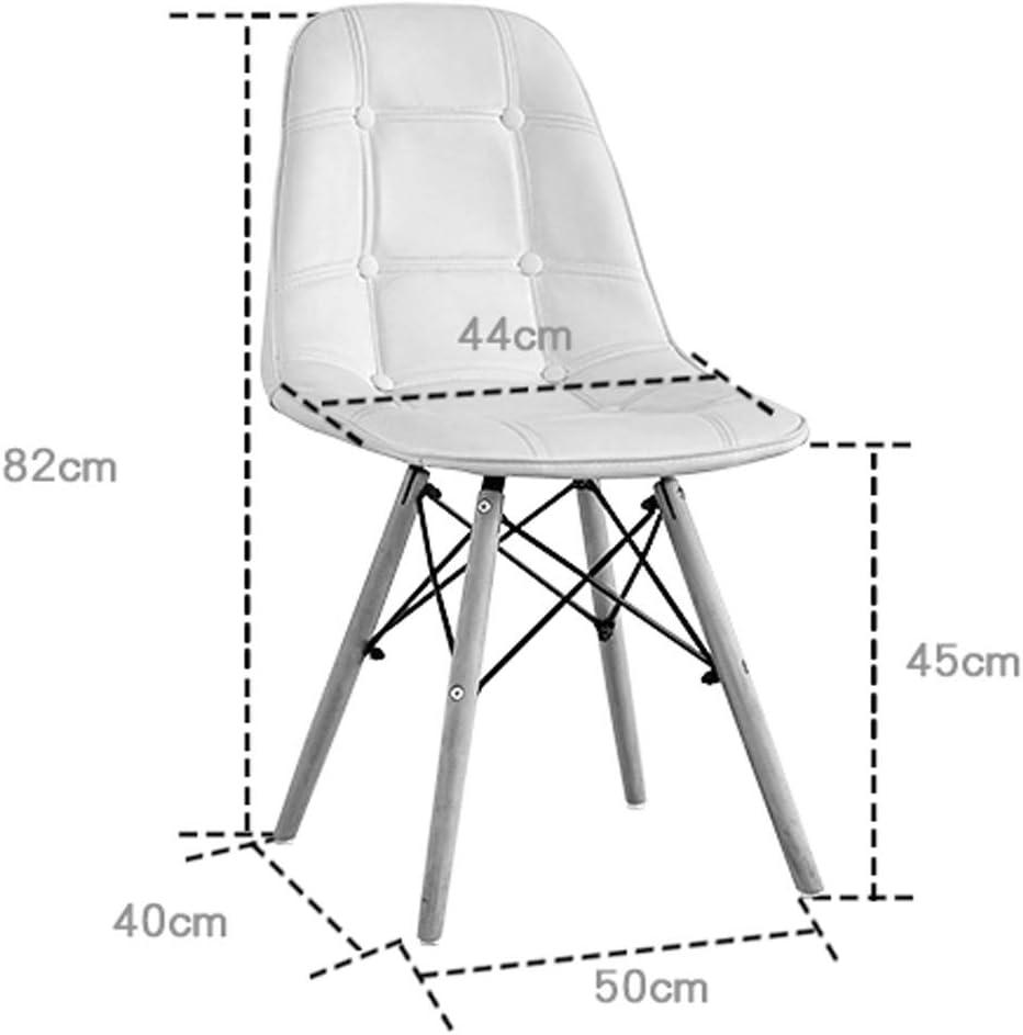 XXT Chaise de salle, Chaise de bureau simple, créative Dossier, Chaise Loisirs, Maison adulte Chaise de salle Durable (Color : Khaki) Blue