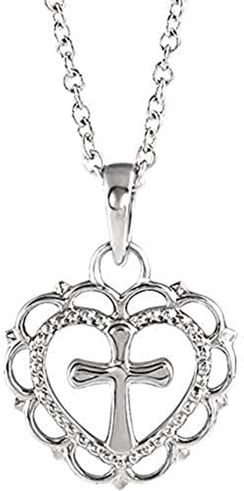 14K Max 52% OFF White Youth Heart 16-18