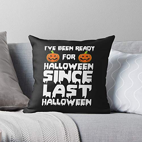 Fsgawards Halloween Pumpkin Outfit Funny - Modern Decorative & Lightweight Soft Cotton Polyester Throw Pillow Cases for Bedroom/Living Room/Sofa Chair & Car